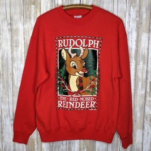Vintage Rudolph Red Nosed Reindeer Christmas Large